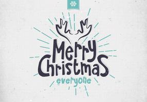 Vrolijke Kerstmis Minimalistische Vector