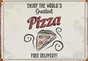 Wereld Grootste Pizza Retro Vector