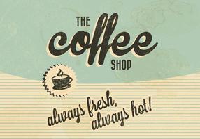 De Koffie Winkel Retro Vector