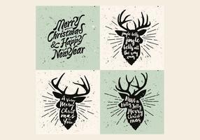 Rendier Kerst Carol Vector