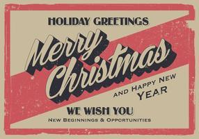 Vintage vrolijk kerst teken vector