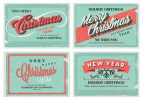 Zeer vrolijk kerstfeest en gelukkig nieuwjaar collectie vector