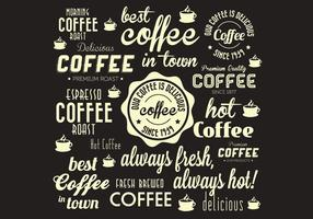 Koffie Fanatic Vector