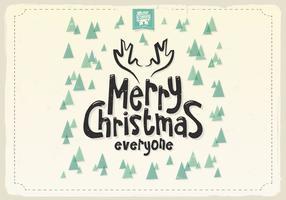 Vrolijke Kerstmis voor iedereen Pine Tree Vector