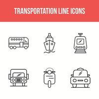 transportlijn 6 pictogrammen instellen