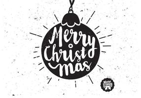 Scripted Kerst Ornament Vector