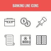banklijn pictogrammen