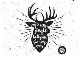 Buck charcoal christmas vector