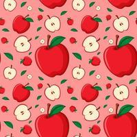naadloos ontwerp als achtergrond met rode appels vector