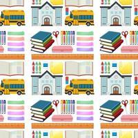 set van hulpmiddelen voor briefpapier en school naadloos