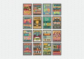 Motiverende Poster Collectie Vector