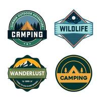 outdoor avontuur badge set vector