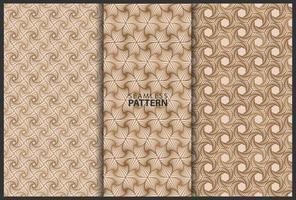 bruin naadloze patroon set