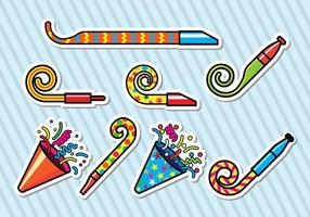 Party Blower Pictogrammen vector