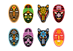 Huichol Masker Vector