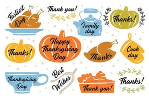 thanksgiving stickers, etiketten