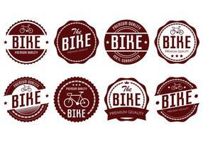 Bicicleta badge vector