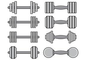 Set Dumbell Icons vector