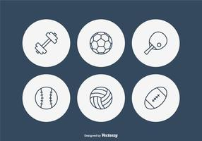 Gratis Sport Line Vector Pictogrammen