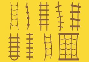 Gratis touw ladder iconen vector