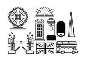 Londense oriëntatiepunten vector