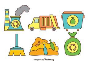 Hand getekende vuilniselement vector