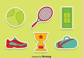 Mooie Tennis Element Vector Set
