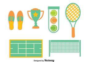 Tennis Element Collectie Vector