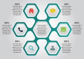 Zeshoek Infographic Element vector