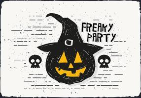 Freaky Halloween Pompoen Vectorillustratie