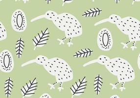 Groen Kiwi Vogelpatroon vector