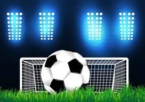 Voetbalveld In De Nacht vector