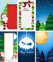 achtergrondsjablonen met kerstthema vector