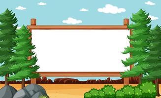 leeg houten frame in natuurpark