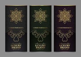 luxe visitekaartje en vintage ornament-sjablonen vector