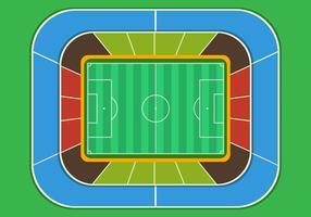 Voetbalveld stadion bovenaanzicht