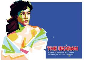 De vrouw - Indonesisch leven - WPAP vector