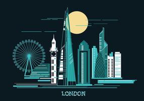 Vectorillustratie The Shard en The London Skylane vector