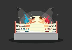 Gratis Wrestling Ring Illustratie