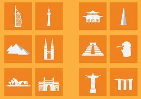Populair landmark icoon vector