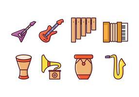 Gratis Instrumentale Pictogrammen vector