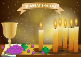 Shabbat Shalom kaars vector