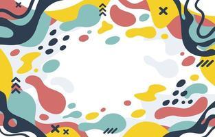plat kleurrijke abstracte vloeibare achtergrond