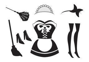 Illusie van het Franse Maid Element vector