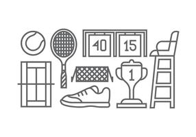 Tennis iconen vector