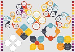 Infografisch hoofd idee element vector