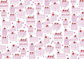 Aardbeien Shortcake Patroon Vector