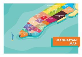 Manhattan Map Gratis Vector