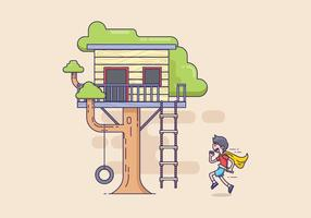 Gratis Treehouse Illustratie