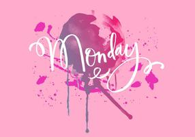 Maandag Inky Watercolour vector